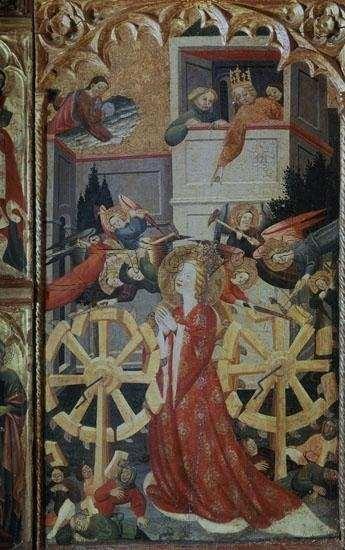 Juan Hispalense, Martirio de Santa Catalina, ca. 1425-1450, pintura sobre tabla. Madrid, Museo Nacional del Prado