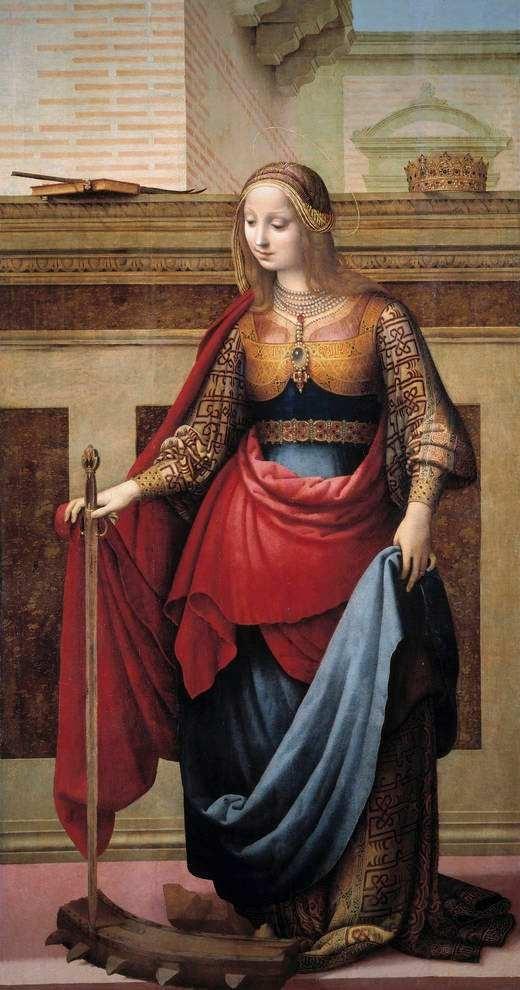 Fernando Yáñez de la Almedina, Santa Catalina, 1505-1510, óleo sobre tabla. Madrid, Museo Nacional del Prado.